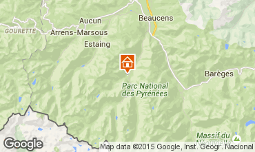 Map Cauterets Apartment 4090