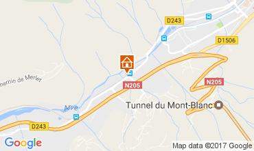 Map Chamonix Mont-Blanc Apartment 109899