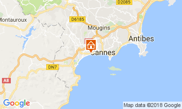 Map Cannes Apartment 68698