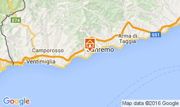 Map Sanremo Apartment 104498