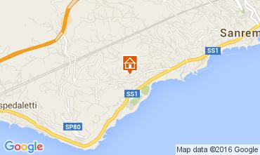 Map Sanremo Apartment 104498