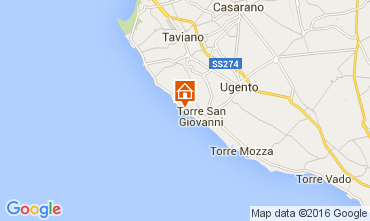 Map Ugento - Torre San Giovanni One-room apartment 105887