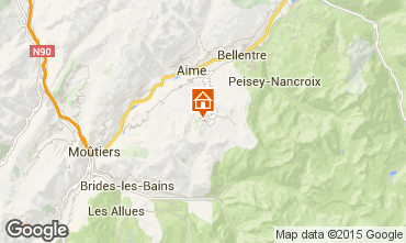 Map La Plagne Apartment 79749