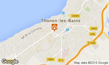 Map Thonon Les Bains Apartment 102720