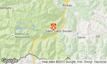 Map Saint Lary Soulan One-room apartment 14766