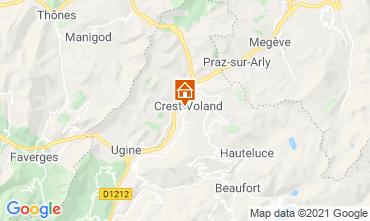 Map Crest Voland Cohennoz Apartment 61386