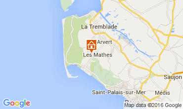 Map La Palmyre Mobile home 104607
