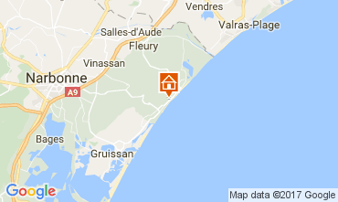 Map Narbonne plage Apartment 107075