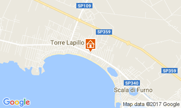 Map Porto Cesareo Apartment 108117