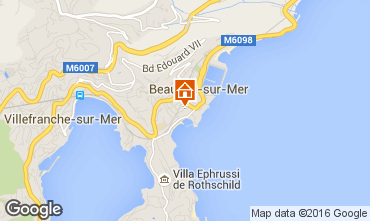 Map Beaulieu sur Mer Apartment 102978