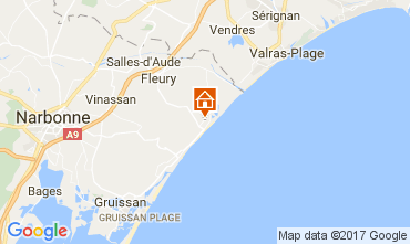 Map Saint Pierre la Mer Apartment 107837