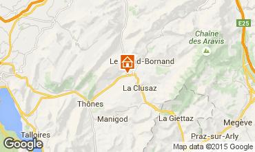 Map La Clusaz Chalet 66735