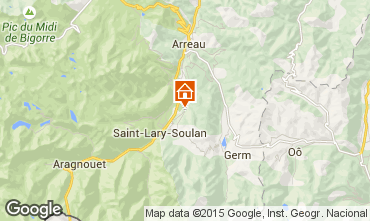 Map Saint Lary Soulan Vacation rental 80216