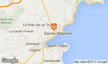 Map Sainte Maxime One-room apartment 73333