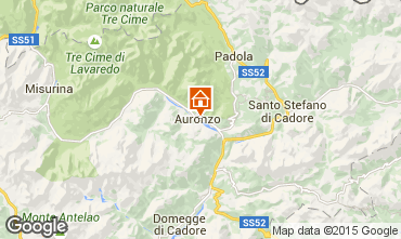 Map Auronzo di Cadore Apartment 95424
