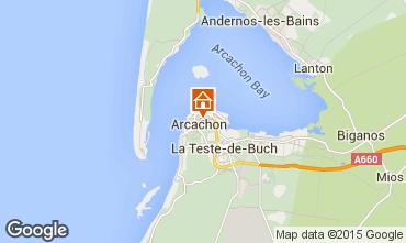 Map Arcachon Villa 63570