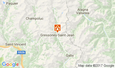 Map Gressoney Saint Jean Chalet 111344