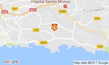 Map Toulon Villa 110245