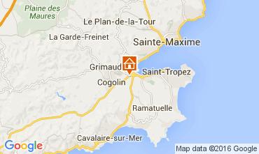 Map Saint Tropez One-room apartment 68910