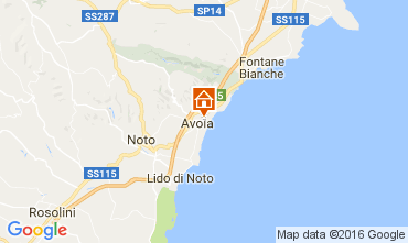 Map Avola Villa 75699