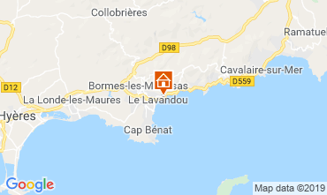 Map Le Lavandou Apartment 107760