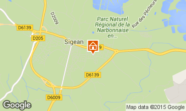 Map Sigean House 10519