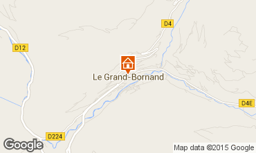 Map Le Grand Bornand One-room apartment 42969