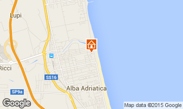 Map Alba Adriatica Apartment 93590