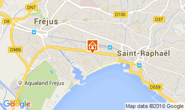 Map Fréjus One-room apartment 105099