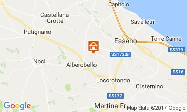 Map Alberobello Vacation rental 110127
