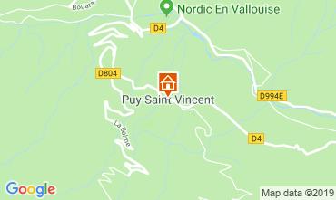 Map Puy Saint Vincent Apartment 92347