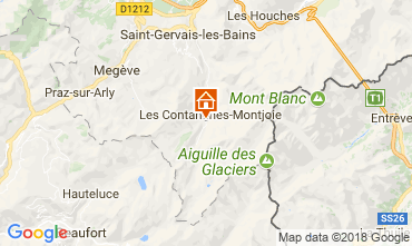 Map Les Contamines Montjoie Vacation rental 115103