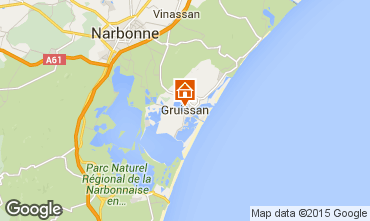 Map Gruissan One-room apartment 6265