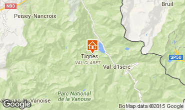 Map Tignes Apartment 67695