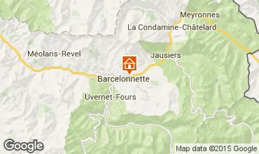 Map Barcelonnette Apartment 79291