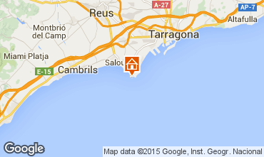 Map Salou One-room apartment 75991