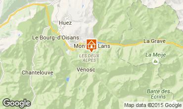 Map Les 2 Alpes Apartment 40126