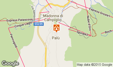 Map Madonna di Campiglio Apartment 67442