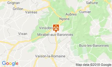 Map Nyons Villa 117379