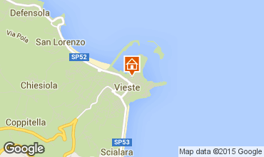 Map Vieste One-room apartment 33954