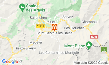 Map Saint Gervais Mont-Blanc Apartment 66844