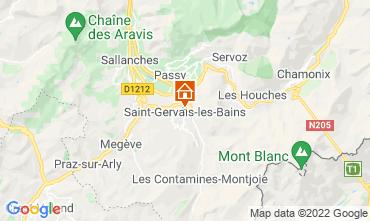 Map Saint Gervais Mont-Blanc Apartment 66844