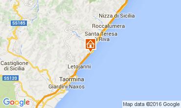 Map Taormina Apartment 70132