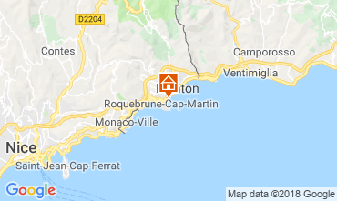 Map Menton Apartment 117152
