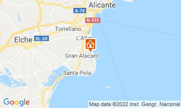 Map Santa Pola Apartment 82118