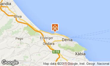 Map Denia Apartment 55579