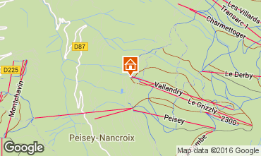 Map Peisey-Vallandry One-room apartment 4747