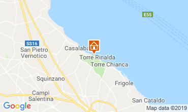 Map Lecce Villa 114230