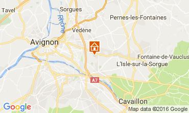 Map Châteauneuf-de-Gadagne Vacation rental 106635