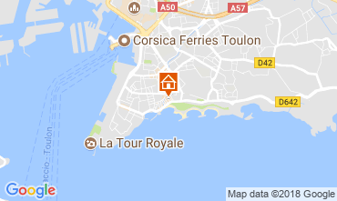 Map Toulon One-room apartment 98823